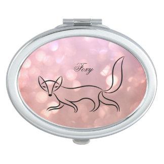 'Foxy' Oval Compact Mirror