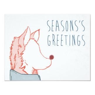 Foxy Series, Season's Greetings 11 Cm X 14 Cm Invitation Card