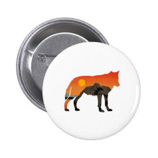 Foxy Sunset 6 Cm Round Badge