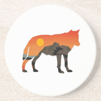 Foxy Sunset Coaster