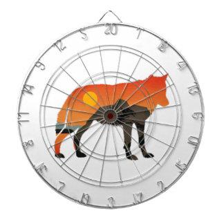 Foxy Sunset Dartboard