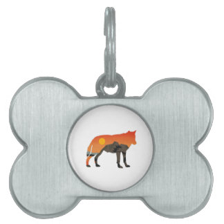Foxy Sunset Pet Tag