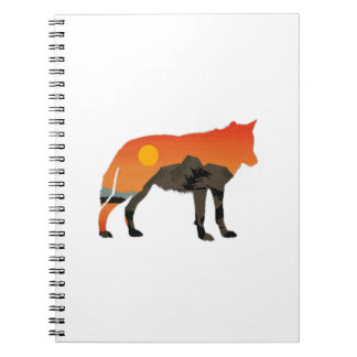 Foxy Sunset Spiral Notebook