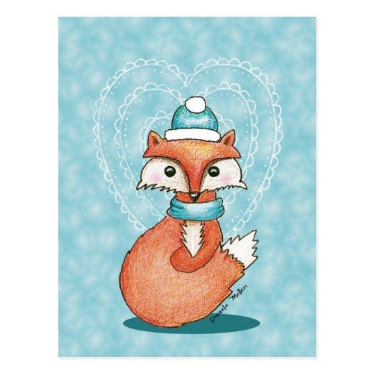 Foxy Valentine Postcard