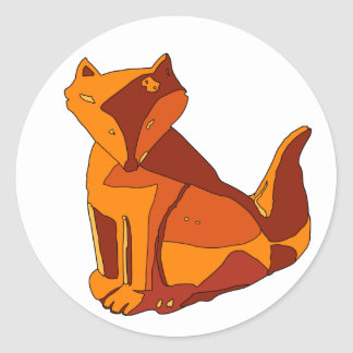 Foxy Vector (Change color in customize!) Classic Round Sticker