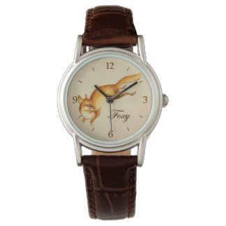 """Foxy"" - Vintage Japanese sketch of a fox Watch"