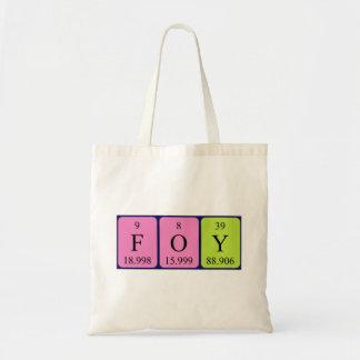Foy periodic table name tote bag
