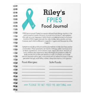 FPIES Food Journal Spiral Notebooks