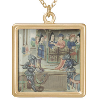 Fr.16830 f.16v Chronicle of Jacques de Lalain (vel Gold Plated Necklace