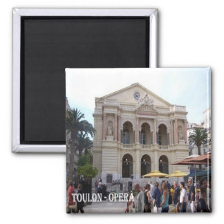FR-France-French Riviera-Toulon-Opera Square Magnet