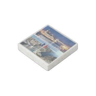 FR France - Marseilles - Old Port - Bay of Morgiou Stone Magnet