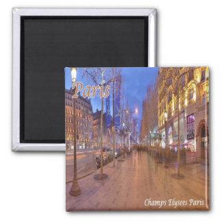 FR - France - Paris - Elysian Fields Square Magnet