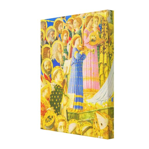Fra Angelico, Chorus of saints and angels Stretched Canvas Prints