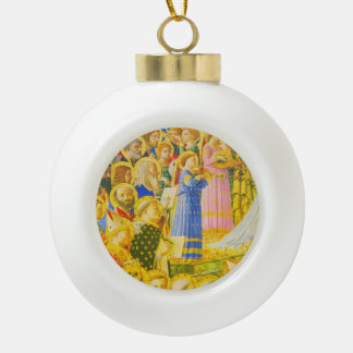 Fra Angelico, Chorus of saints and angels Ceramic Ball Decoration