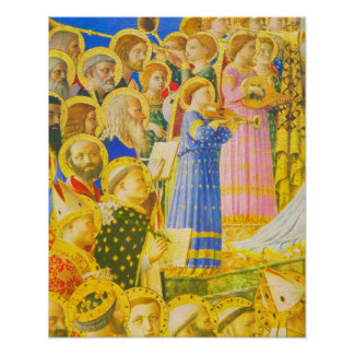 Fra Angelico Chorus of saints and angels Print