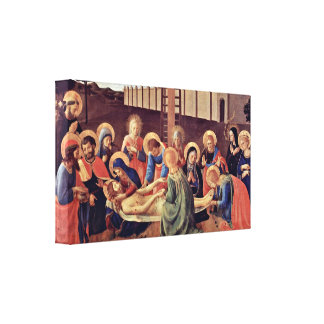 Fra Angelico - Cross Fragment Canvas Print