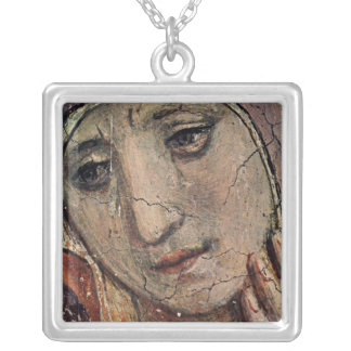 Fra Angelico Face of Mary Silver Plated Necklace