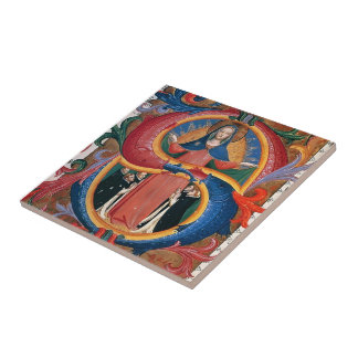 Fra Angelico:Madonna of Mercy with Kneeling Friars Ceramic Tile