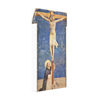 Fra Angelico - StDominic at the Cross of Christ Canvas Prints