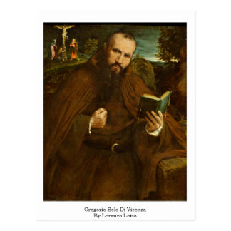 Fra Gregorio Belo Di Vicenza By Lorenzo Lotto Postcard