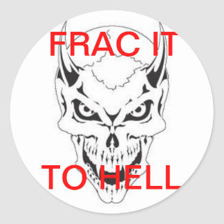 FRAC DEVIL CLASSIC ROUND STICKER