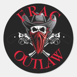 Frac Outlaw Classic Round Sticker