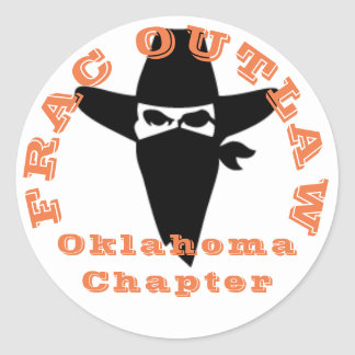 Frac Outlaw Oklahoma chapter sticker