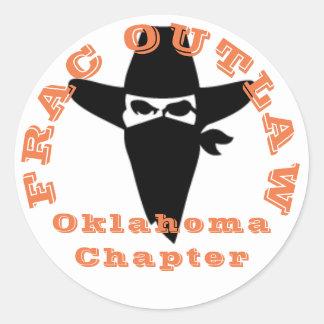 Frac Outlaw Oklahoma chapter sticker
