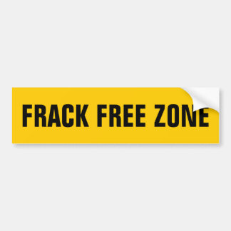 FRACK FREE ZONE BUMPER STICKER