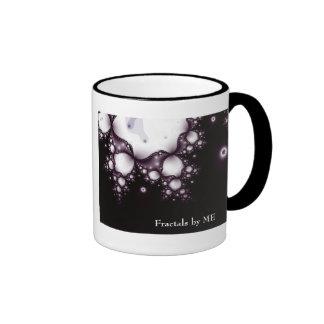 Fractal1blacklacejulia, Fractals by ME Ringer Mug