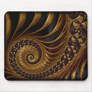 fractal-199054 BROWNS GOLDS SWIRLS fractal spiral Mousepad