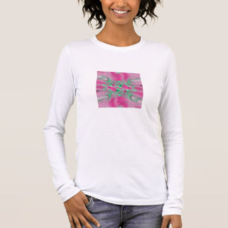Fractal 1  Ladies Long Sleeve (Fitted) Long Sleeve T-Shirt