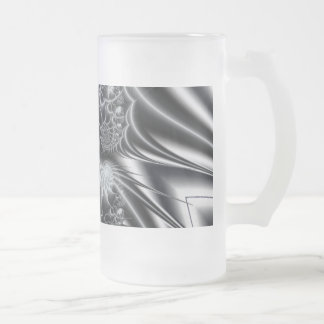 Fractal 2 frosted glass beer mug