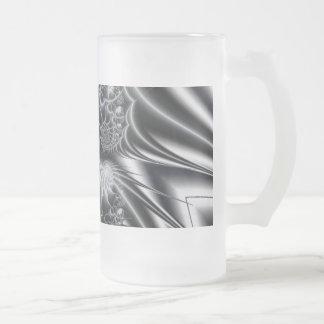 Fractal 2 frosted glass mug
