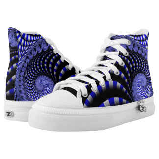 fractal 2 high tops printed shoes