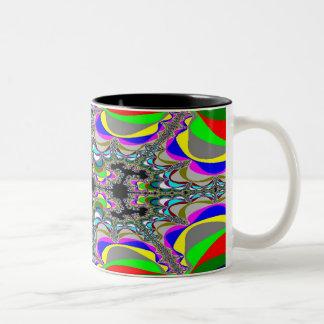 Fractal 2 Two-Tone mug