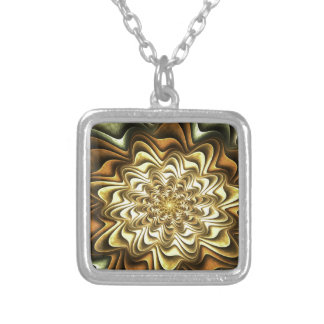 fractal #2 silver plated necklace