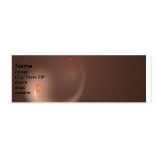 Fractal 37 Orange Flair Pack Of Skinny Business Cards