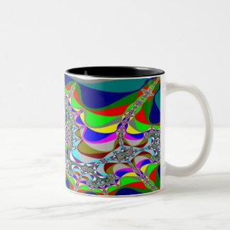 Fractal 3 Two-Tone mug
