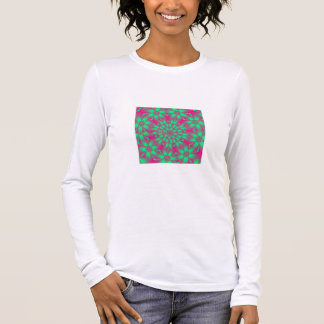 Fractal 69,Ladies Long Sleeve (Fitted) Long Sleeve T-Shirt