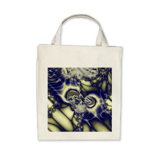 Fractal 95 Organic Grocery Tote Tote Bags