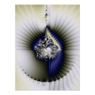 Fractal, abstract heart poster