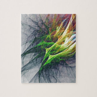 Fractal abstract pattern art in 3d jigsaw puzzle