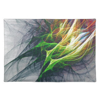Fractal abstract pattern art in 3d placemat