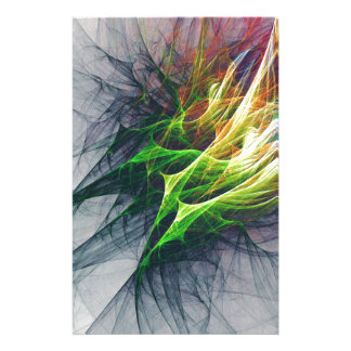 Fractal abstract pattern art in 3d stationery