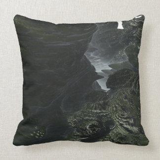 Fractal Alien Landscape Throw Pillow