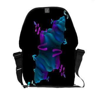 Fractal Alien Space Station Messenger Bag