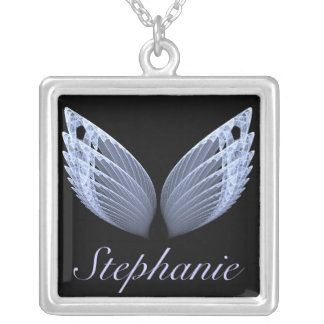 fractal angel wings necklace