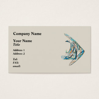 Fractal - Angelfish Business Card