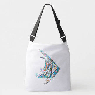 Fractal - Angelfish Crossbody Bag